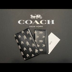 Coach Men's Black Card Wallet and ID Wallet
